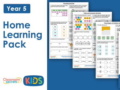 Year 5 Spring Week 12 Home Learning Maths Pack