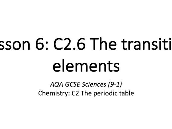 C2.6 The transition elements