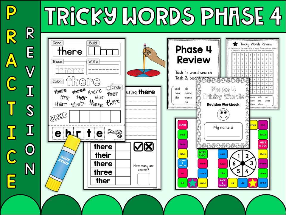 Phonics | Phonics Phase 4 | Tricky Words | Practice Worksheets by ...