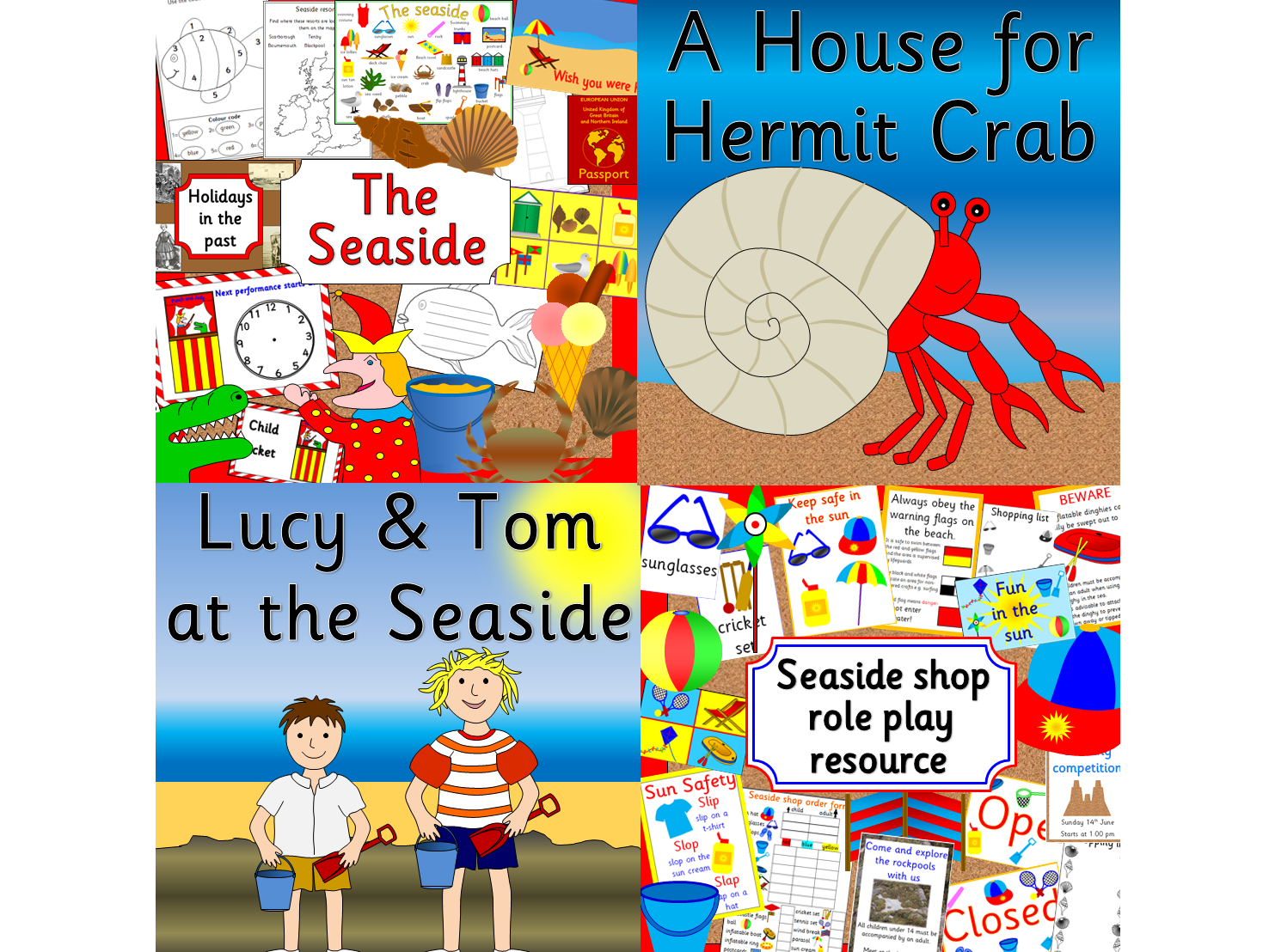 Seaside bumper pack- role play, story resources and topic pack