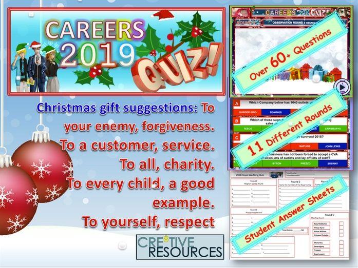 Careers Christmas Quiz 2019