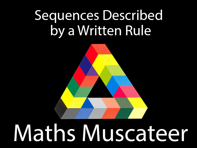 Sequences described by a written rule