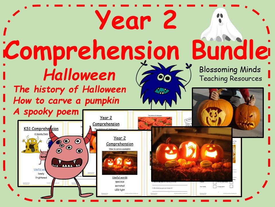 Year 2 Halloween Comprehension Bundle