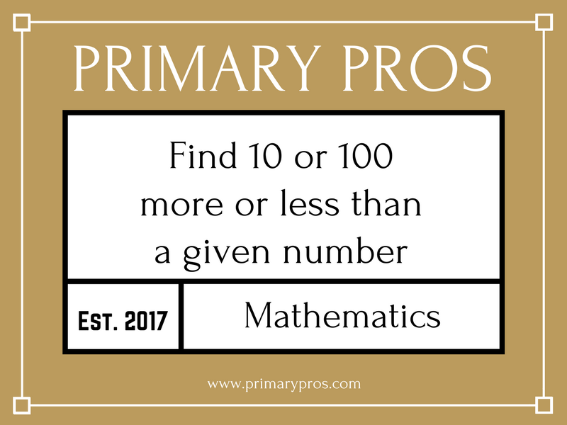 Find 10 or 100 more or less than a given number