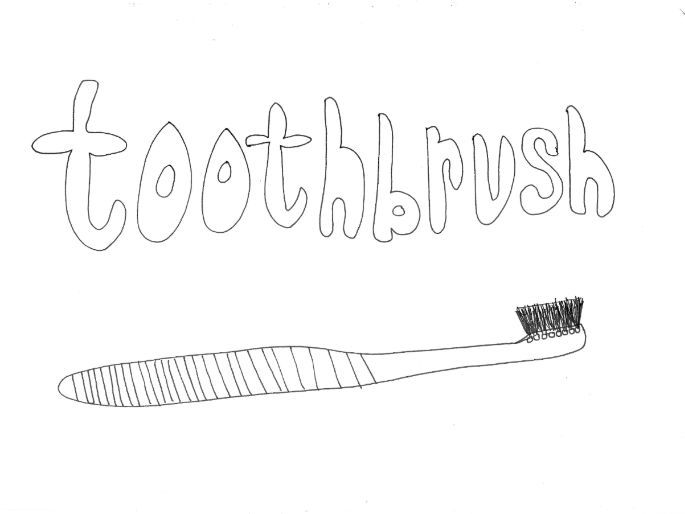 Toothbrush: Colouring Page (Daily Routine, Keeping Healthy)