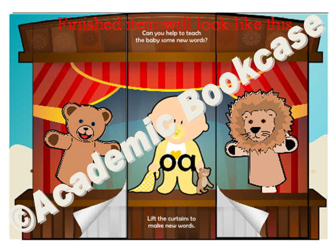 Puppet theatre word maker - Phase 3 'oa' words