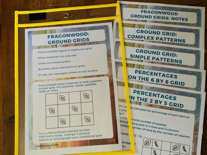 Outdoor maths activities Fragonwood Grids - Percentages and Patterns KS2