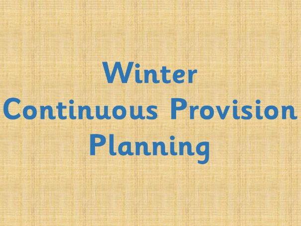 Winter Continuous Provision Enhancements plan