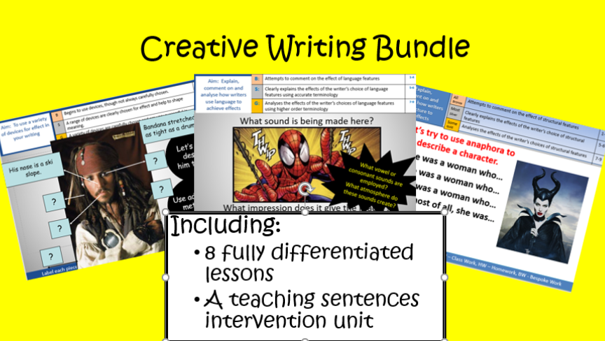 Creative Writing Lesson Bundle