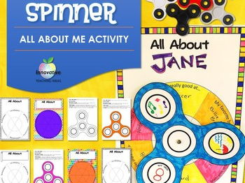 Fidget Spinner All About Me Editable Activity - Back to School