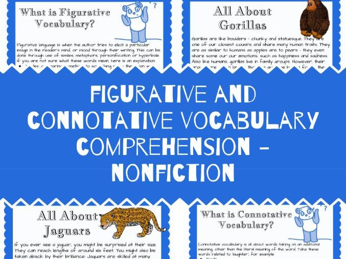 Figurative and Connotative Vocabulary Reading Comprehension - Nonfiction