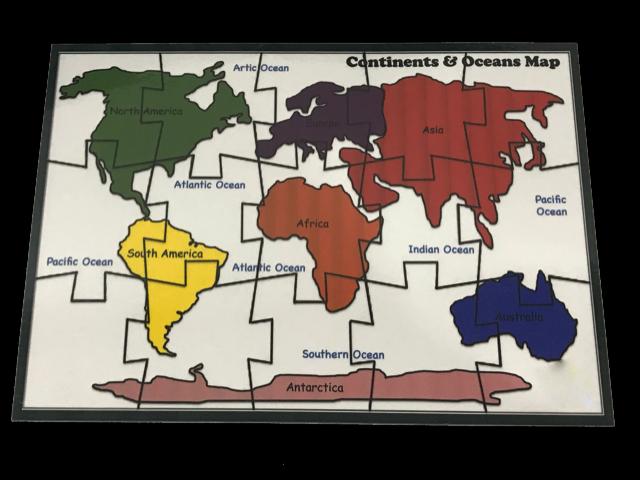 15 Pcs Continents Puzzle