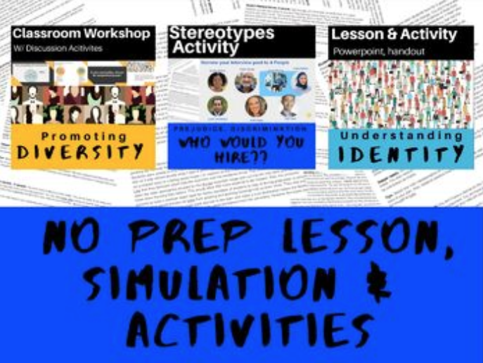 Diversity Training Bundle: Stereotype Simulation, PPT, Handouts, Activities