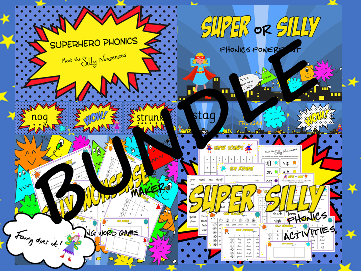 Super Silly Phonics Screen Preparation BUNDLE