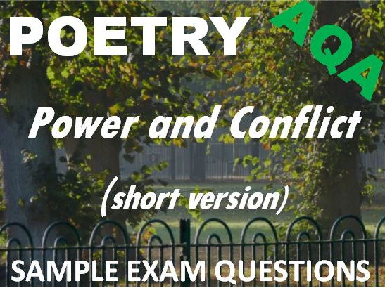 Short version of Power and Conflict Poetry - Sample Exam Questions - AQA GCSE New Spec