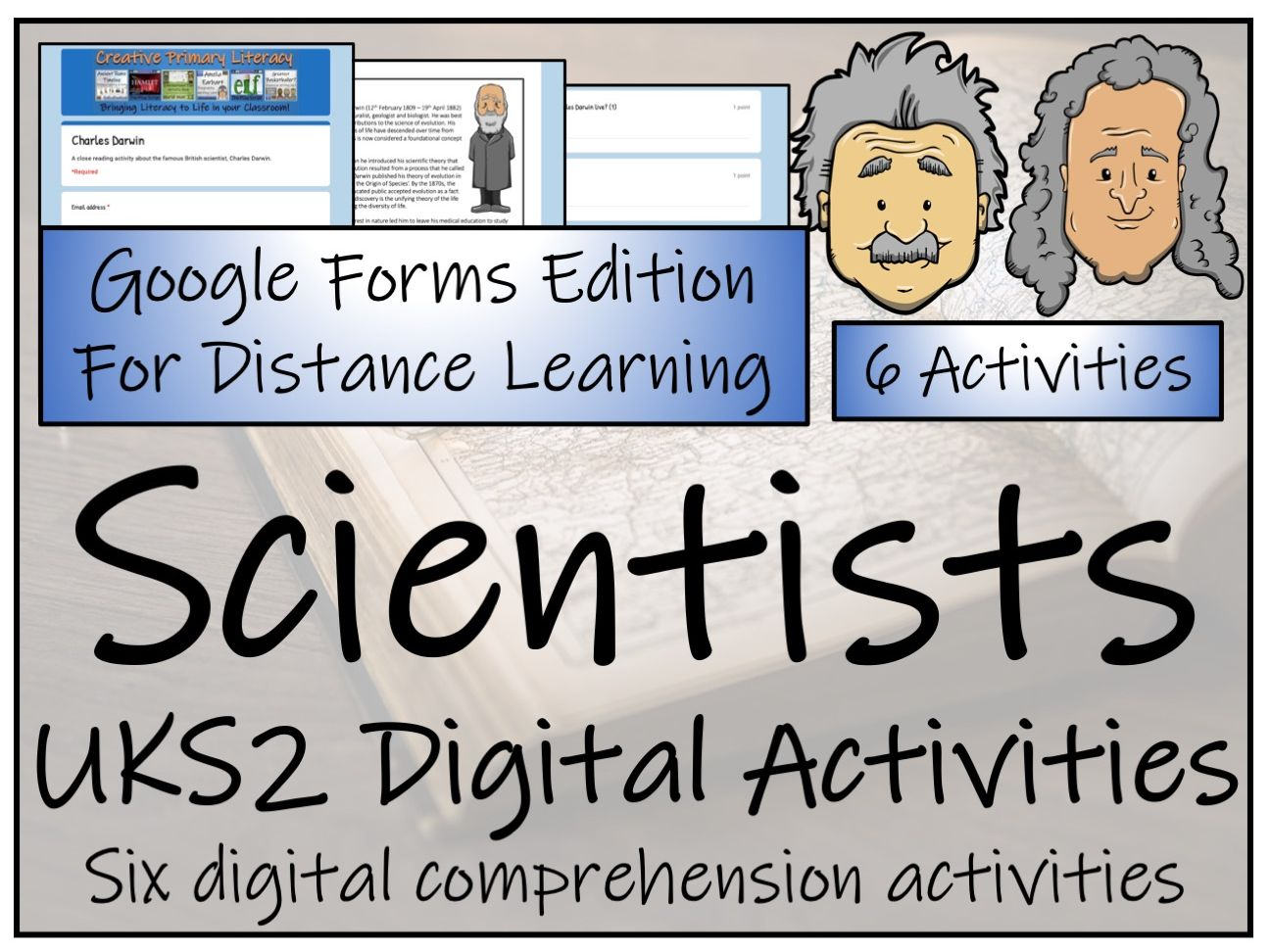 UKS2 Famous Scientists Reading Comprehension & Distance Learning Bundle