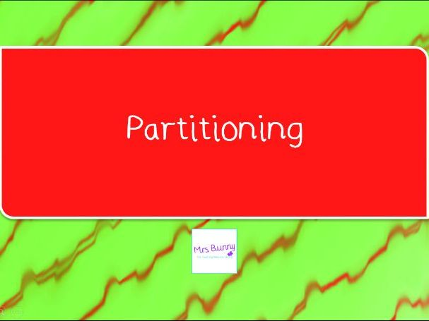 6. Partitioning lesson pack (Y4 NPV)