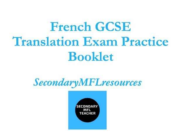 French GCSE Translation Complete Exam Practice Booklet with answers