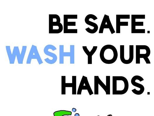 Wash your hands sign.