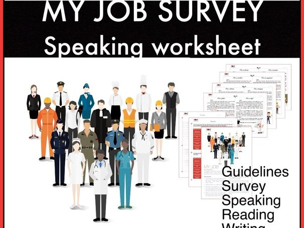 Jobs and professions. Reading and Speaking worksheet for kids. ESL/EFL