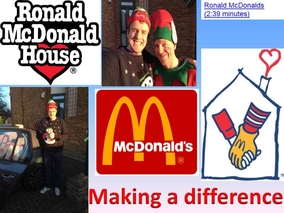 School assembly on Making a difference at Christmas