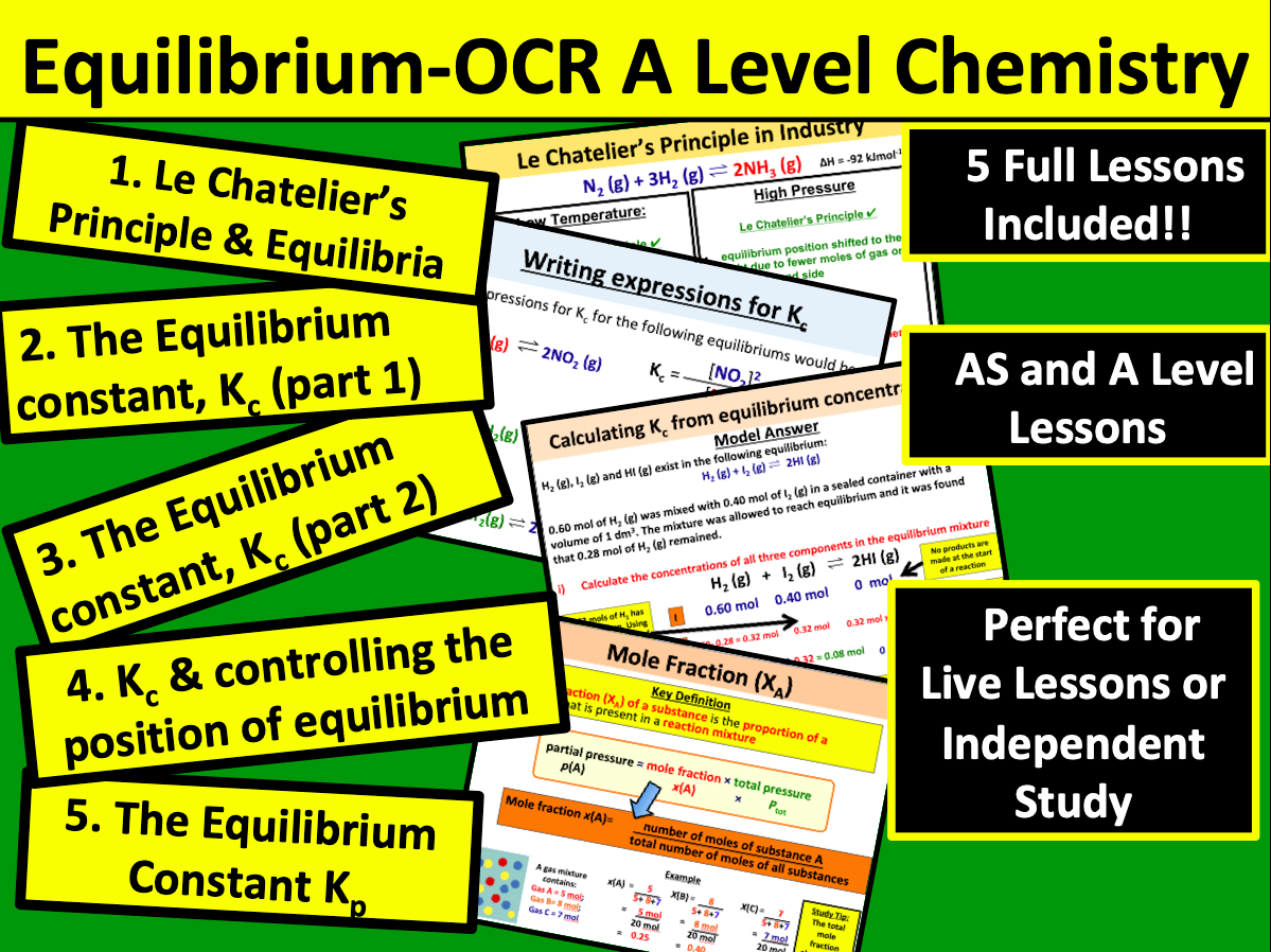 Equilibrium (OCR A Level Chemistry)