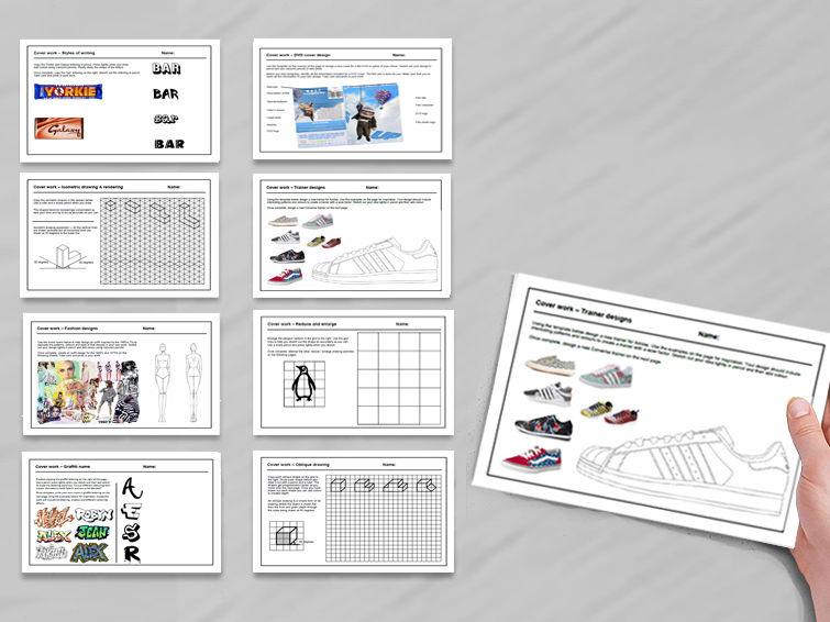 15 D&T  cover  lessons / cover work - Tried and tested worksheets