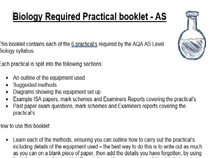 a level biology practical notes