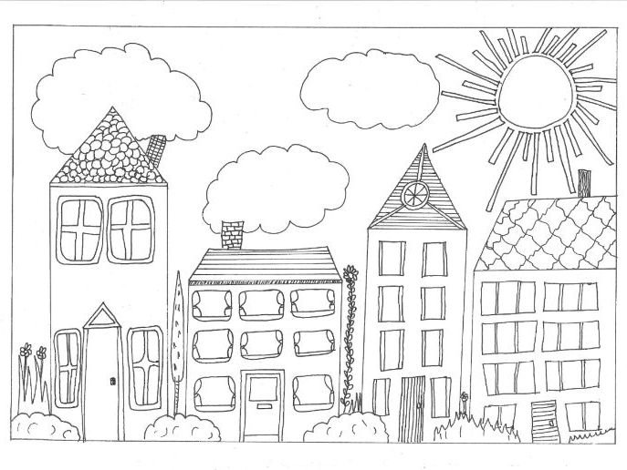 Settlements Colouring Page