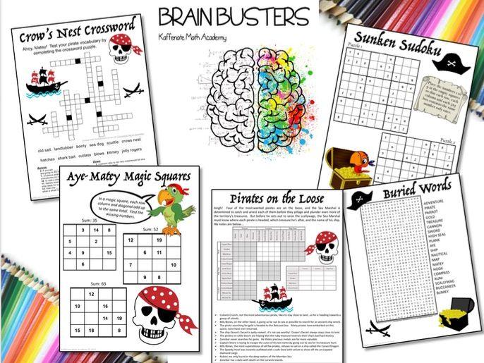 Kaffenate Math Brain Buster--Pirate Edition