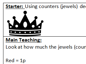 Topic maths 'How much is your crown worth?'