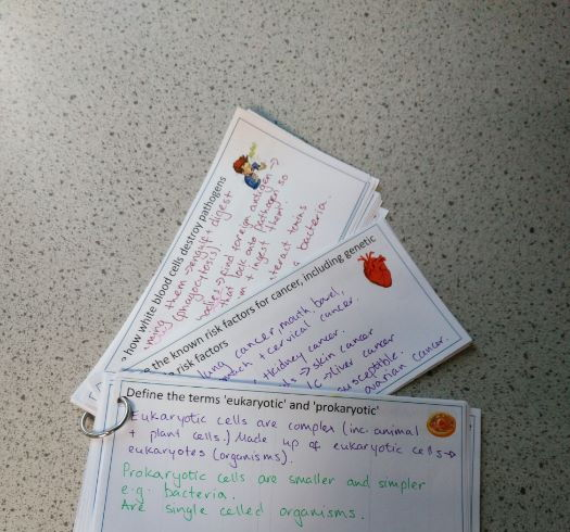 AQA Trilogy (biology) revision cards
