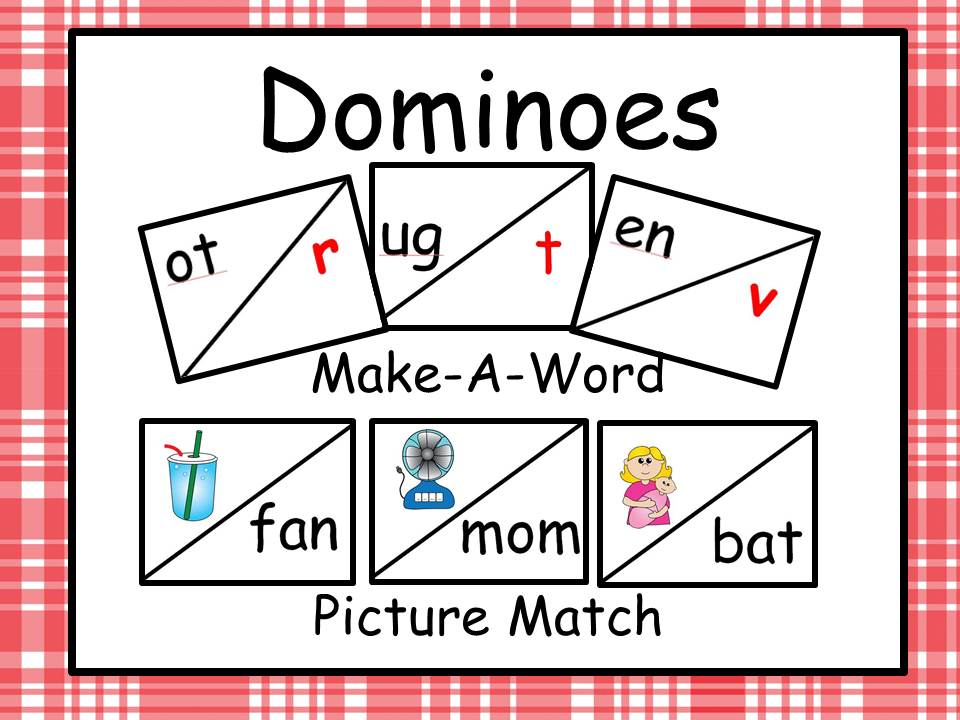 Dominoes - Make A Word and Picture Word Match