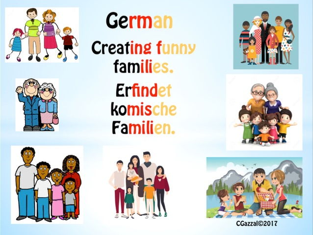 German KS2 & KS3 - Creating Funny Families. (Self & Family)