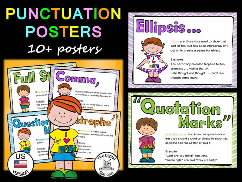 Punctuation Posters (US version) 10+ posters