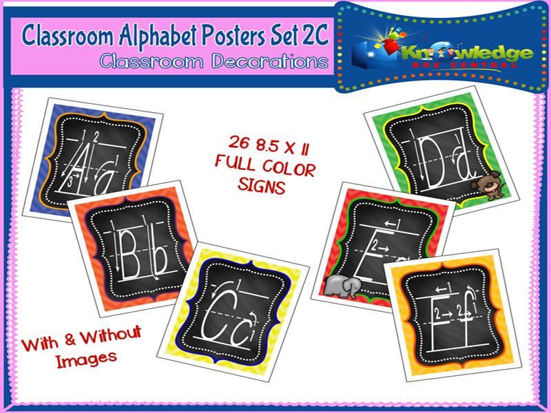 Alphabet Posters Set 2C