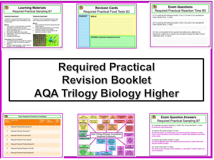 AQA Trilogy Higher Biology Required Practical Revision Booklet