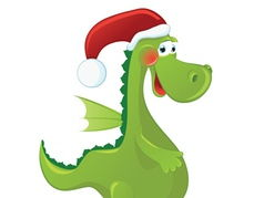 Christmas Themed Reading Assessment Santa and the Giant Dragon