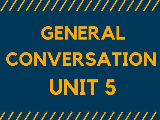 MODEL ANSWERS  - GENERAL CONVERSATION. Unit 5 for GCSE SPANISH 1-9.