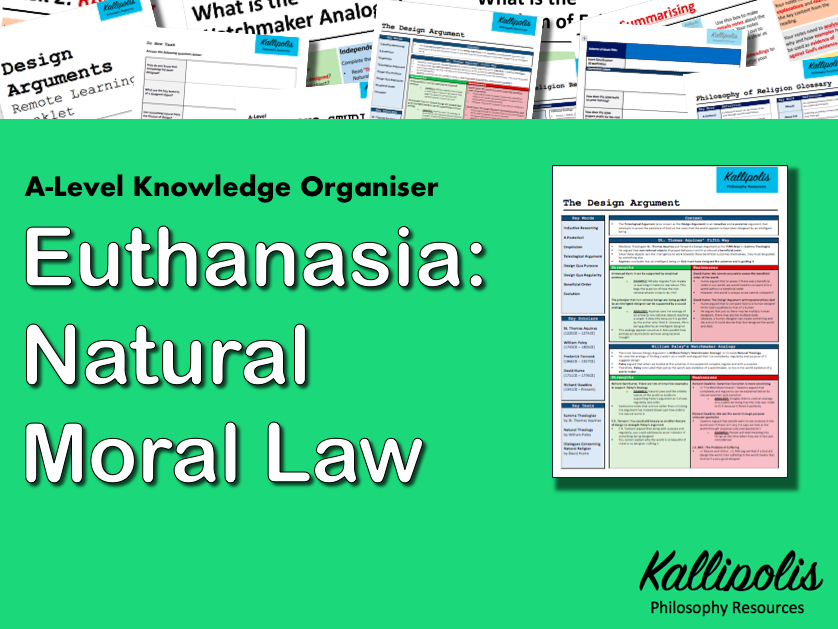 Euthanasia: Natural Moral Law - Knowledge Organiser