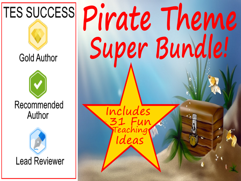 Pirate Bundle - Fun Images And Writing Activity