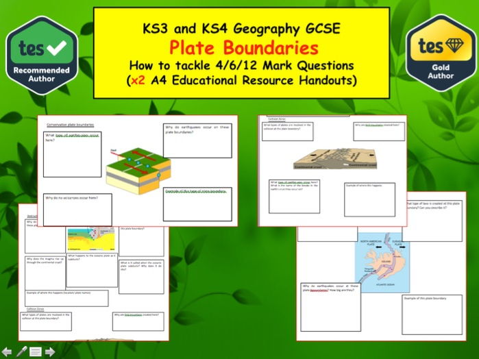 learn the process that occur at different plate boundaries and the hazards they produce- Geography
