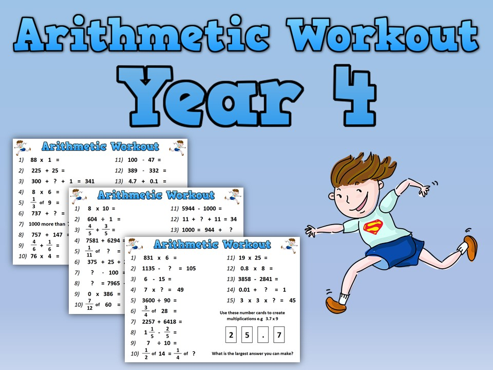 Year 4 Arithmetic Workout