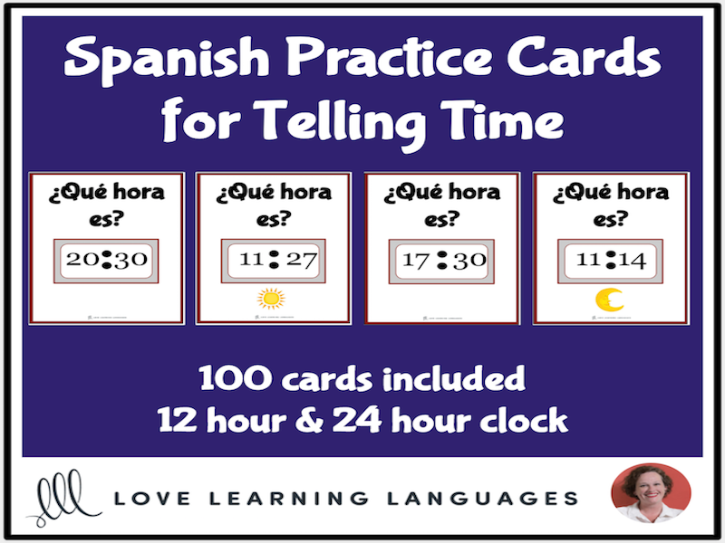 Spanish - Telling time task cards