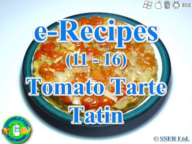 26.   Tarte Tatin - Tomato Based (e-Recipe)