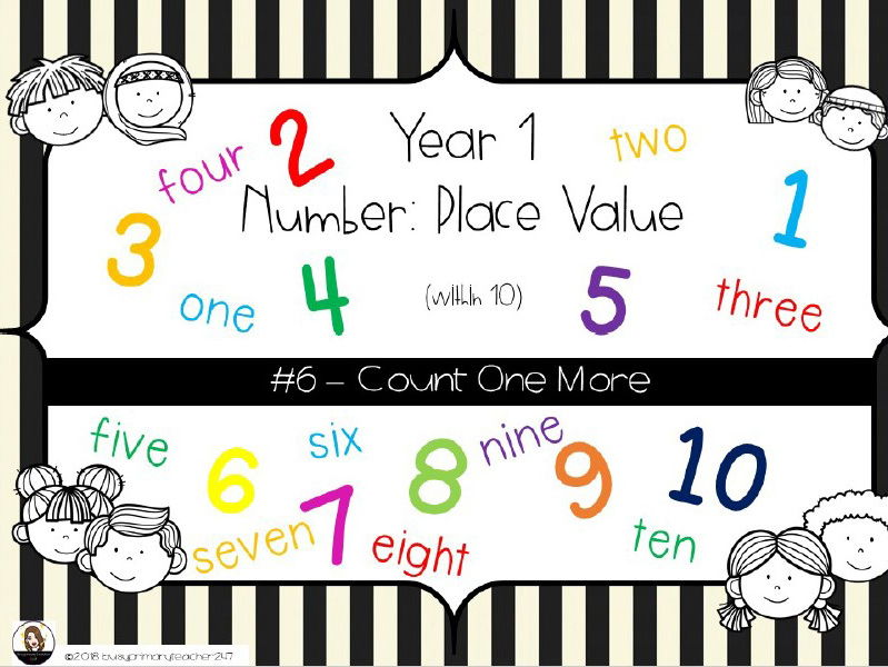 Year 1 - Place Value - Counting One More  0-10