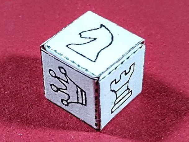 Chess Die Net - D6 cube - A4