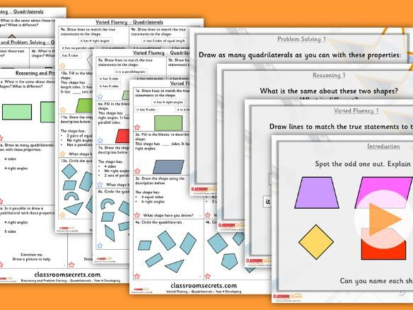 Year 4 Quadrilaterals Summer Block 5 Step 4 Lesson Pack