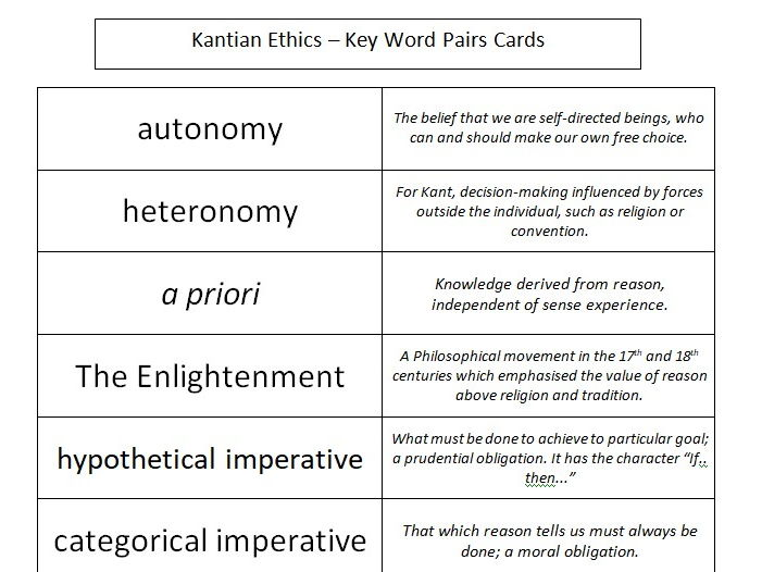 explain the difference between a deontological Introduction | kant's categorical imperative | criticisms of deontology | other  types of  immanuel kant defined an imperative as any proposition that declares  a.
