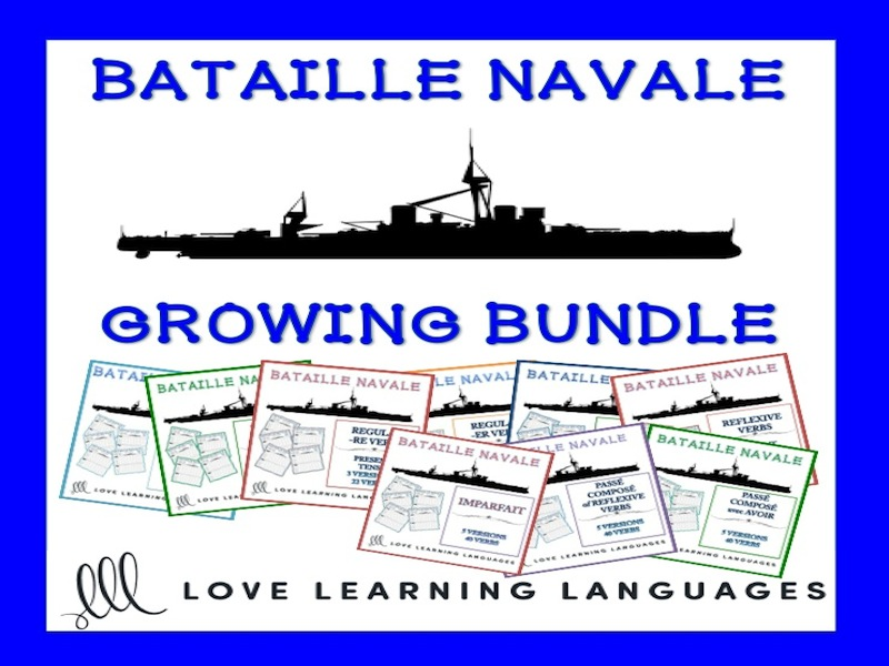 GCSE FRENCH: French Bataille Navale Games - Growing Bundle